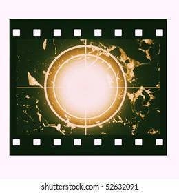 Blank film countdown in sepia design