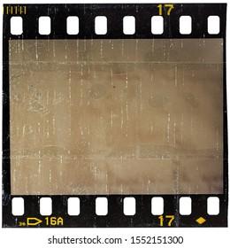 blank film photo placeholder on white