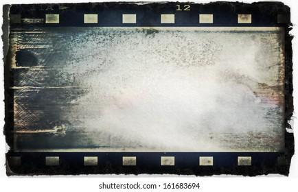 blank film strip frame background