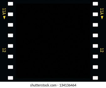 blank film strip frame isolated on white