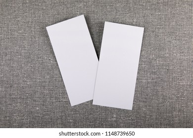 Blank flyer over gray to replace your design