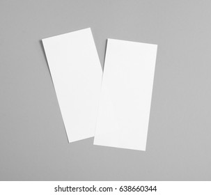 Blank flyer over grey background to replace your design