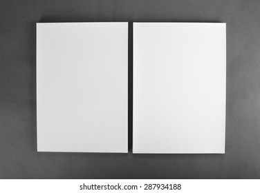 Blank flyer poster on grey to replace your design