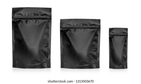Blank Food Stand Up Flexible Pouch Snack Sachet Bag. Mock Up