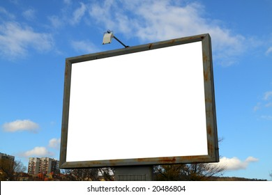 Blank frame for advertisers to place ad copy samples