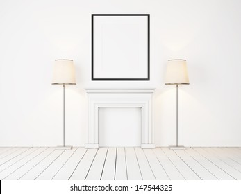 blank frame and lamps