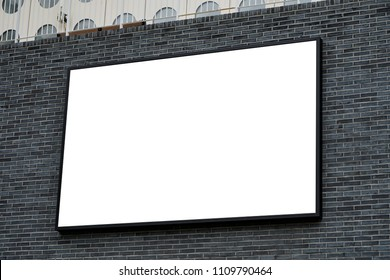 Blank frame on brick wall 2