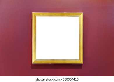 Blank frame on a wall.