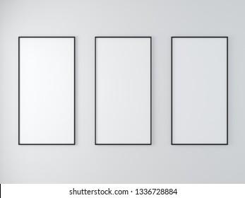 blank frame on the wall minimal