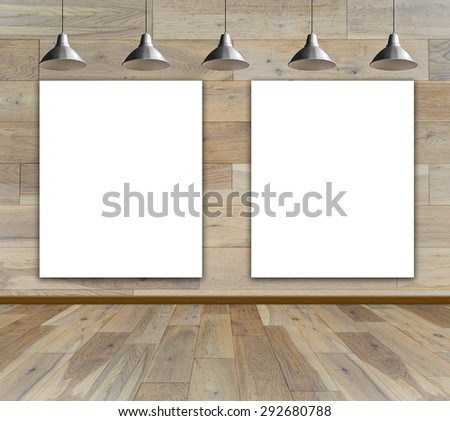 Blank Frame On Wood Wall Ceiling Stock Photo (Edit Now) 292680788 ...