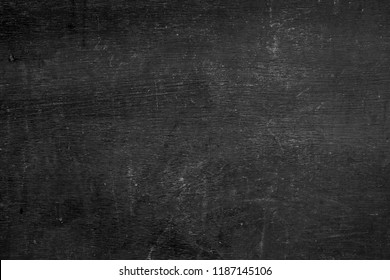Blank front Real black chalkboard background texture in college concept back to school kid wallpaper for create white chalk text draw graphic. Empty old back wall education blackboard. black Friday.