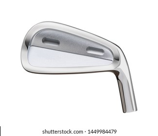 Blank Golf Club Iron Head Back Isolated on a White Background.
