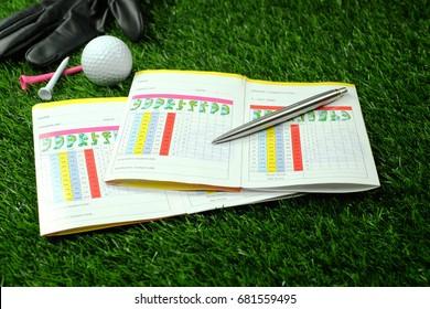 Blank Golf Score Card with Pen
