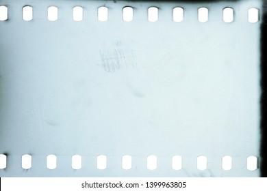 Blank grained film strip texture background