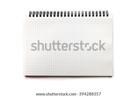 blank graph paper drafting notebook isolated stock photo edit now