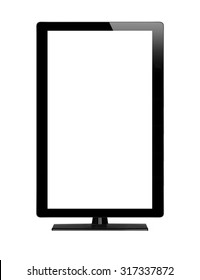 Blank graphic computer monitor with clipping path for the screen