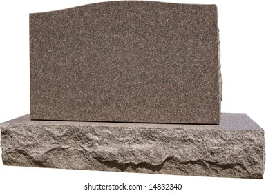 Blank grave headstone ready for your message. Has work path for isolation.