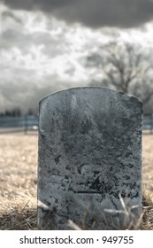 Blank Gravestone from a civil war-era graveyard