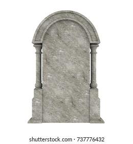 Blank Gravestone Isolated. 3D rendering