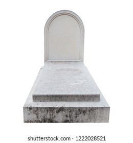 Blank gravestone from marble isolated on white background