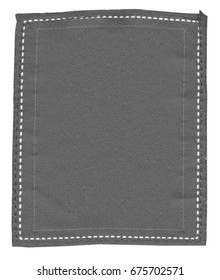 blank gray textile label. Useful for Your text