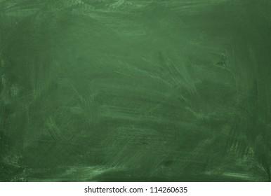blank green chalkboard blackboard texture with copy space