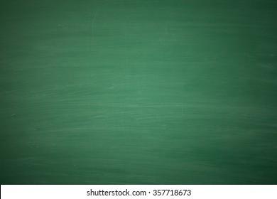 Blank green chalkboard, blackboard texture with copy space