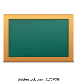 Blank Green Chalkboard Blank Green Isolated on a White Background