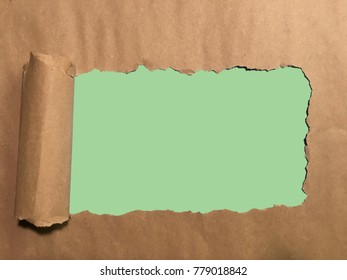 Blank green space for messages