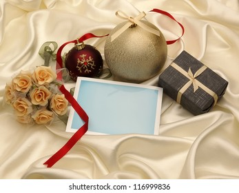 Blank greeting card and decoration