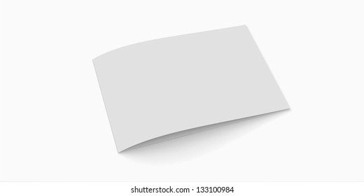 Blank greeting card with soft shadows isolated on white