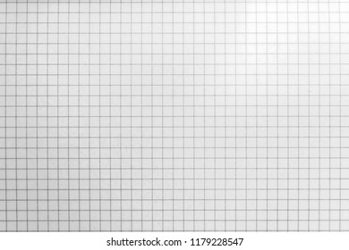 Blank grid paper background. Graph grid scale paper graphic. top view.
