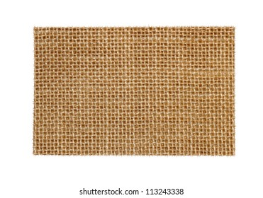 Blank Grungy Canvas Background isolated