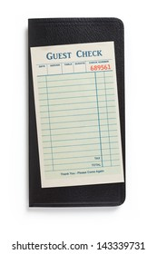 Blank Guest Check, concept of restaurant expense.