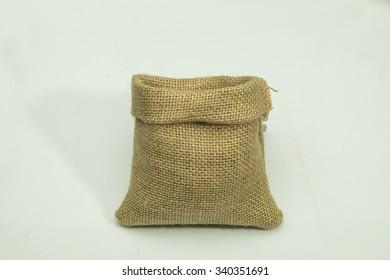 blank gunny bag on white background