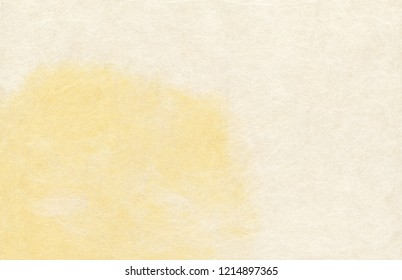 "blank hand made japanese traditional paper ""wagashi"" colorized with yellow pigment"