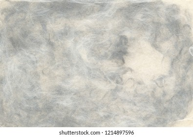 """blank hand made japanese traditional paper """"wagashi"""" colorized with grey pigment"""