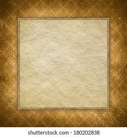Blank handmade paper sheet on grunge background