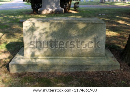 blank headstone template cemetery daytime seasonal stock photo edit