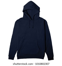 blank hoodie blue navy color for mockup template