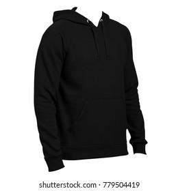 Hoodie template images stock photos vectors shutterstock blank hoodie template side left view black color for mockup maxwellsz