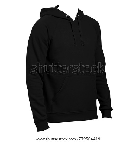 Blank Hoodie Template Side Left View Stock Photo Edit Now