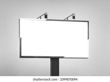 Blank horizontal billboard against a sky. Background for mock-up.