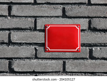 blank house number board