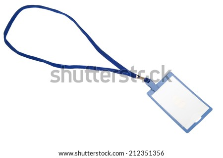 blank id badge over white background stock photo edit now