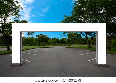 Blank Inflatable square Arch Tube or Event Entrance Gate in the park