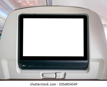 Blank In-Flight Entertainment Screen, Blank LCD Screen in Airplane