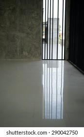 blank interior light parquet windows