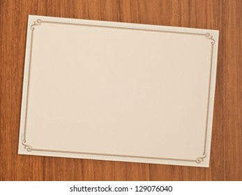 blank invitation card with vintage frame