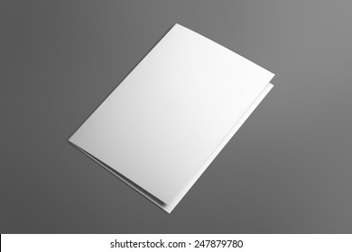 Blank invitation greetings card isolated on grey to replace your design
